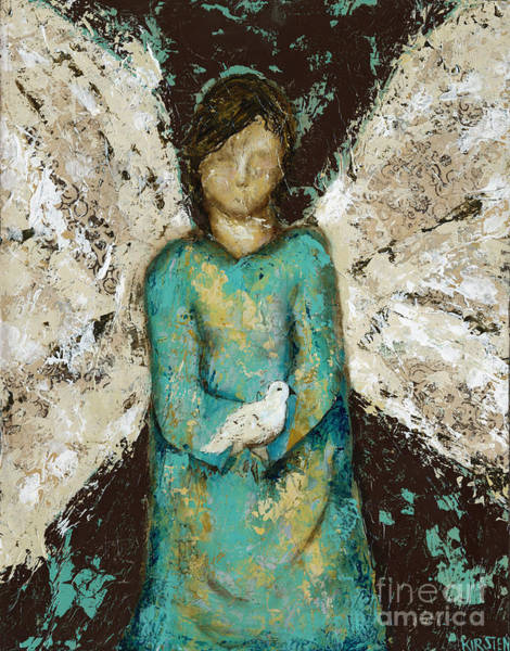 Wall Art - Mixed Media - Angel  And  Dove by Kirsten Reed