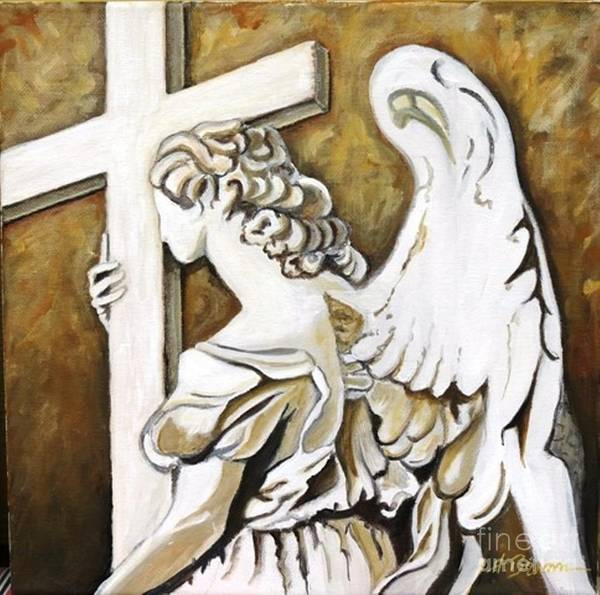 Holly Brannan Wall Art - Painting - Angel Of Sadness by Holly Bartlett Brannan
