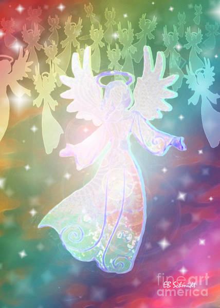 Mixed Media - Angel Announcement 2 by E B Schmidt