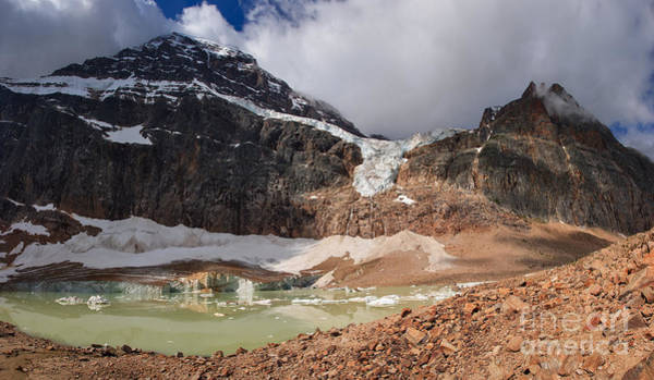 Photograph - Angel Glacier And Cavell Glacier by Charles Kozierok
