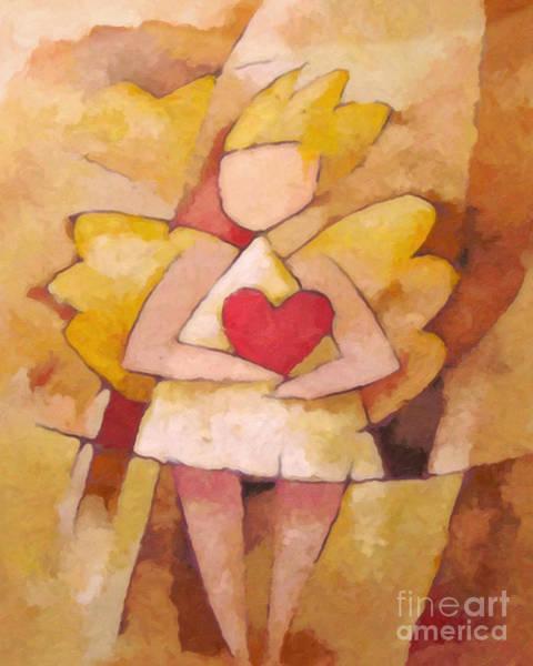 Painting - Angel Heart by Lutz Baar