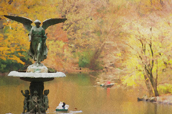 Photograph - Angel In Central Park Two by Alice Gipson