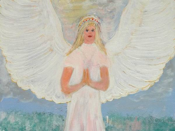 Angelic Beings Painting - Angel In Prayer by Karen Jane Jones