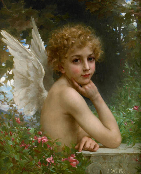 Allegory Wall Art - Painting - Angel by Jules Cyrille Cave