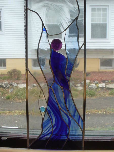 Glass Art - Angel  by Karin Thue