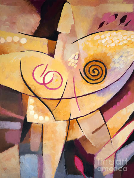 Abstraction Painting - Angel by Lutz Baar