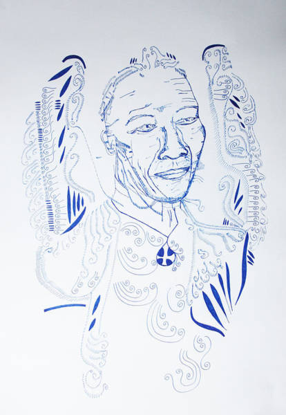 Drawing - Angel Madiba -  Nelson Mandela by Gloria Ssali