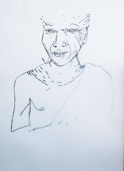 Drawing - Angel Madiba - Xhosa Prince by Gloria Ssali