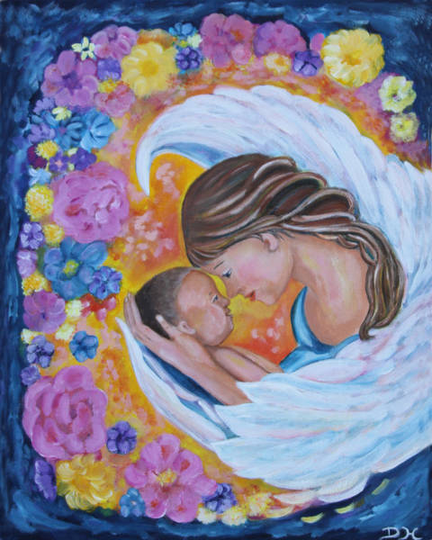 Painting - Angel Mother And Child by Diana Haronis