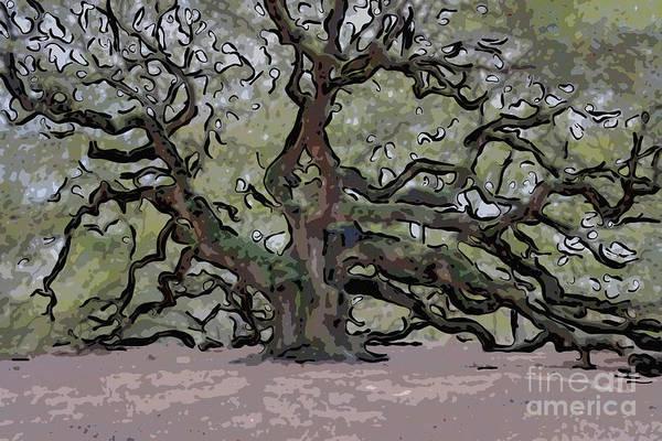 Digital Art - Angel Oak Digital Art by Dale Powell