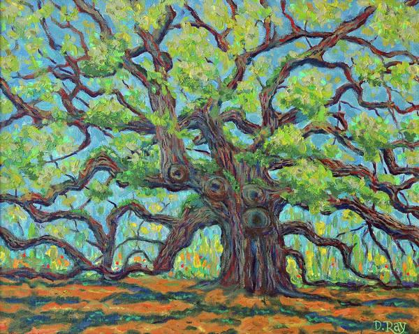 Angel Oak Painting - Angel Oak Impression by Dwain Ray