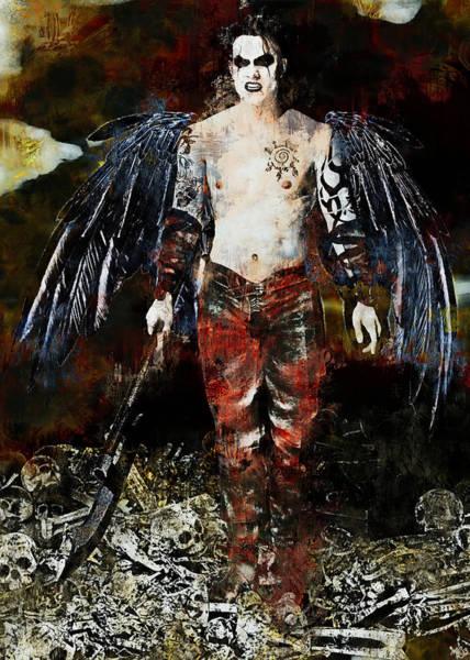 Painting - Angel Of Darkness by Maynard Ellis