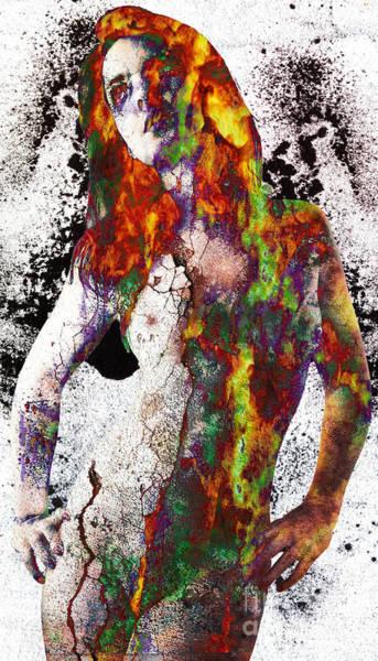 Made Digital Art - Angel Of Debris by Michael Volpicelli