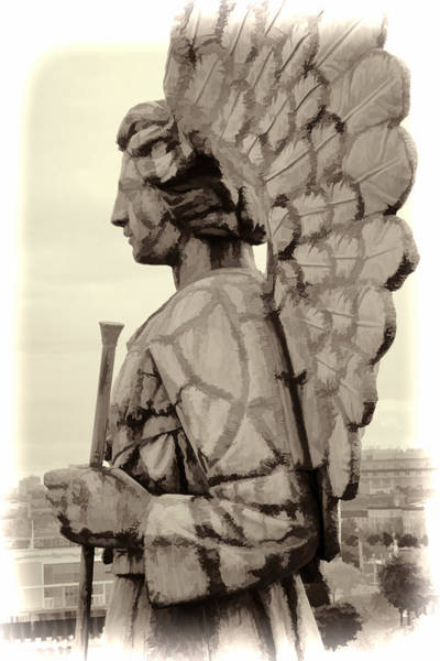 Photograph - Angel Of Old Montreal Closeup by Alice Gipson