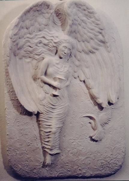 Ceramic Art - Angel Of The Grail by Charles Lucas