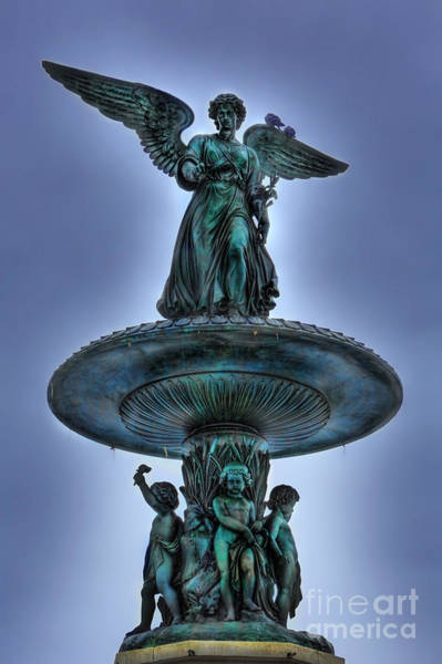 Wall Art - Photograph - Angel Of The Waters Fountain - Bethesda IIi by Lee Dos Santos