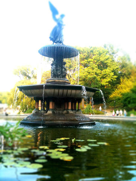 Bethesda Fountain Photograph - Angel Of The Waters by Jon Woodhams