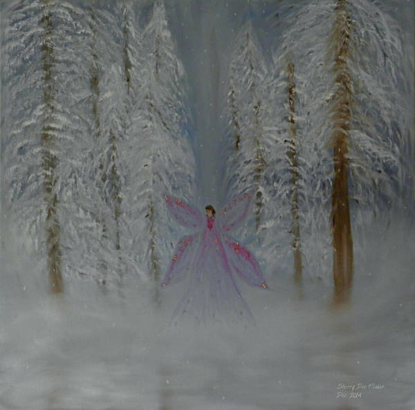 Painting - Angel Of Winters Past by Sherry Flaker