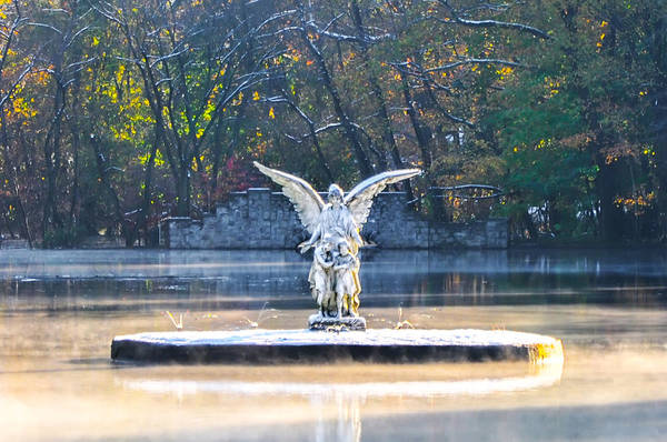 Photograph - Angel On A Misty Lake  by Bill Cannon