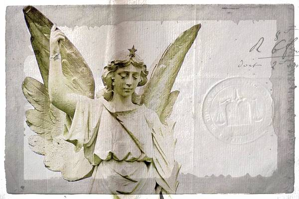 Photograph - Angel On Parchment by Alice Gipson