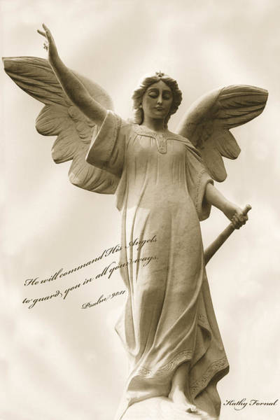 Guardian-angel Photograph - Angel Religious Spiritual Inspirational Art by Kathy Fornal
