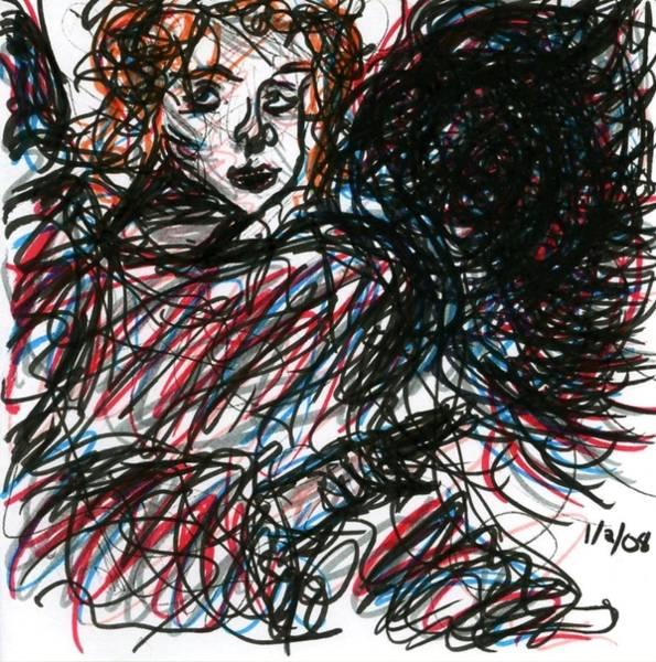 Drawing - Angel Sketch by Rachel Scott