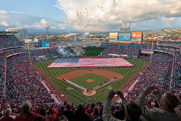 Photograph - Angel Stadium Of Anaheim by Mark Whitt