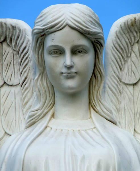 Photograph - Angel Statue by Jeff Lowe