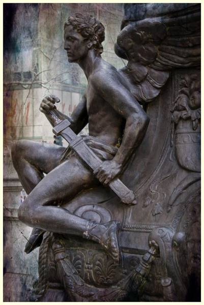 Photograph - Angel With His Sword by Alice Gipson