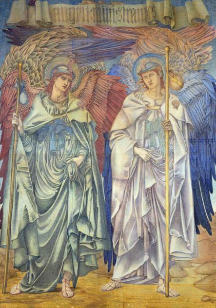 Wall Art - Painting - Angeli Ministrantes by Sir Edward Coley Burne-Jones