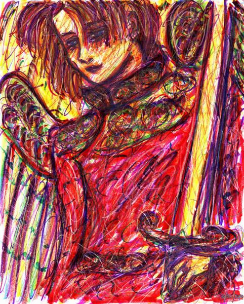 Drawing - Angelic Warrior by Rachel Scott