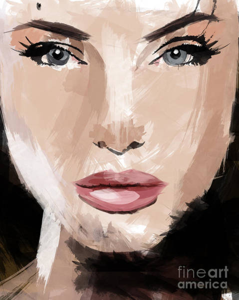 Brad Pitt Digital Art - Angelina Jolie by Ahmad Alyaseer