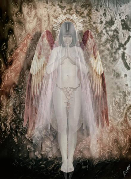 Angelic Digital Art - Angelita Friendly by Quim Abella
