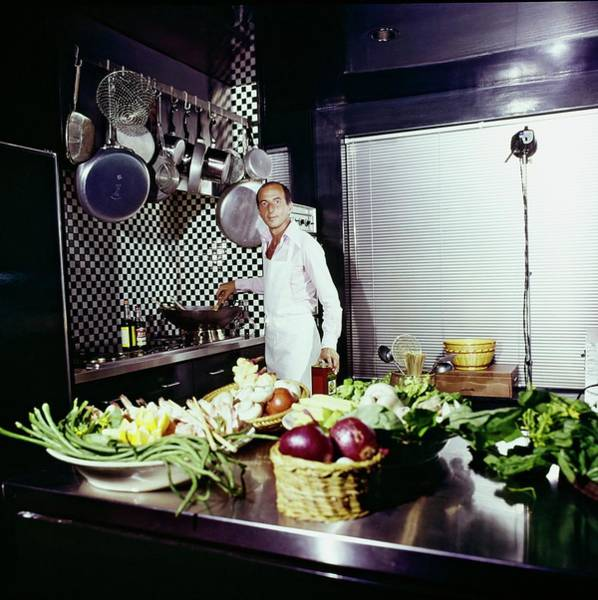 Wall Art - Photograph - Angelo Donghia In His Kitchen by Horst P. Horst