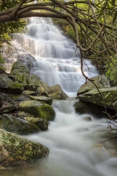 Chilhowee Photograph - Angels At Benton Waterfall by Debra and Dave Vanderlaan