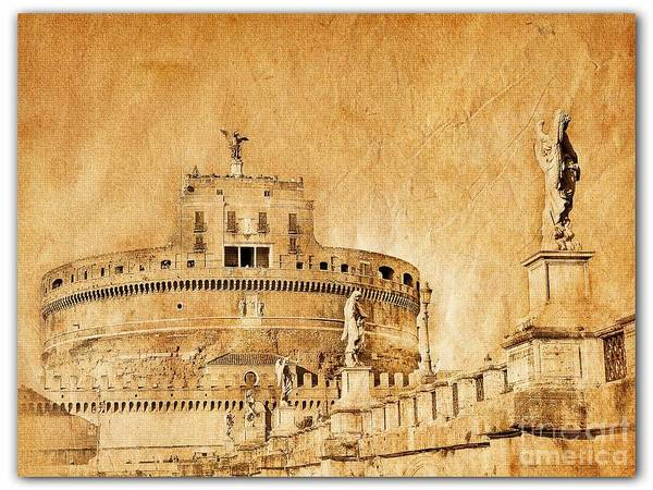 Roman Fort Photograph - Angels Bridge And Castle by Stefano Senise