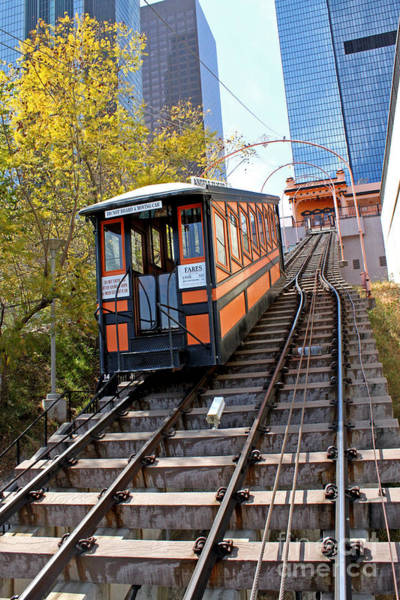 Photograph - Angels Flight Railway by Gregory Dyer