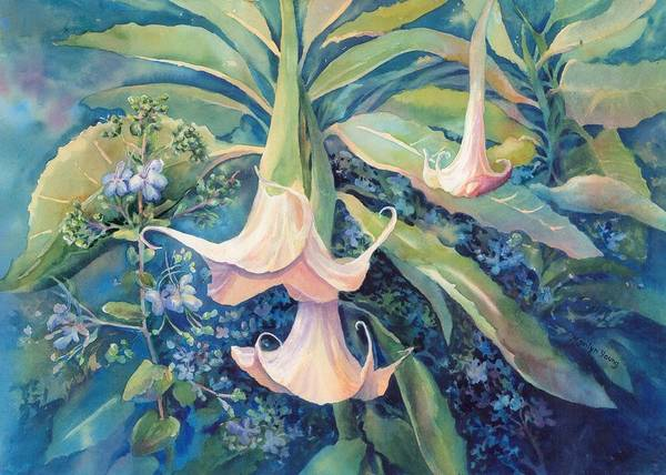 Angels Trumpets II Art Print