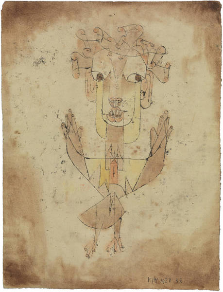 Wall Art - Painting - Angelus Novus by Paul Klee