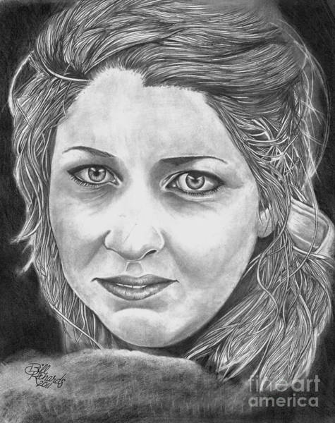 Drawing - Angie by Bill Richards
