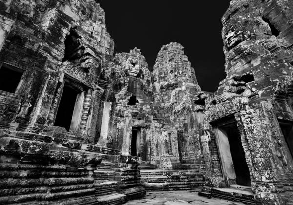Angkor Wall Art - Photograph - Angkor Thom Ruin by Julian Cook