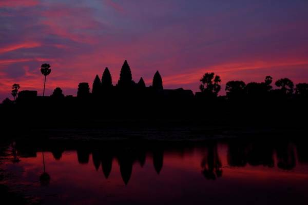 Cambodian Photograph - Angkor Wat, The Mandatory Shot by Patrick De Talance Getty