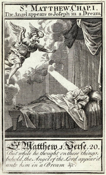 Angle Drawing - Angle Of The Lord Appeared Unto by Mary Evans Picture Library
