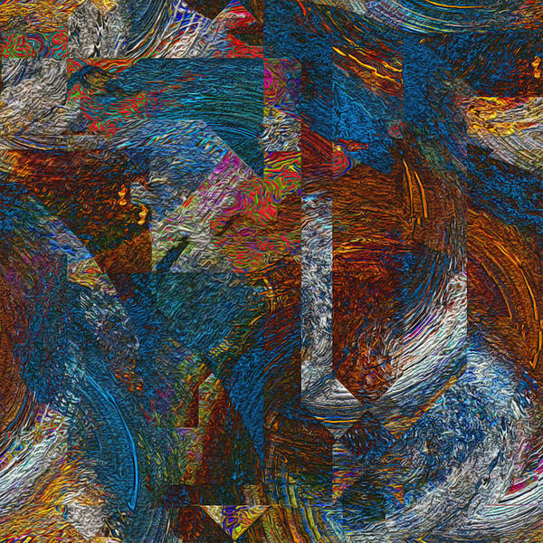 Wall Art - Painting - Angles And Curves Abstract by Jack Zulli