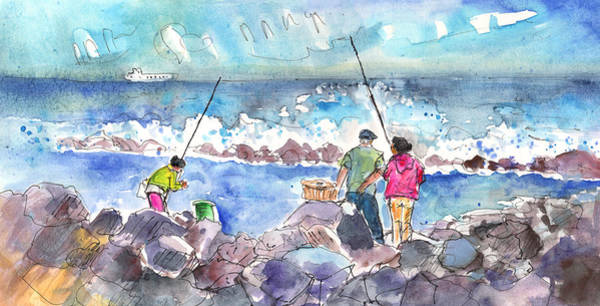 Painting - Angling In Gran Canaria by Miki De Goodaboom