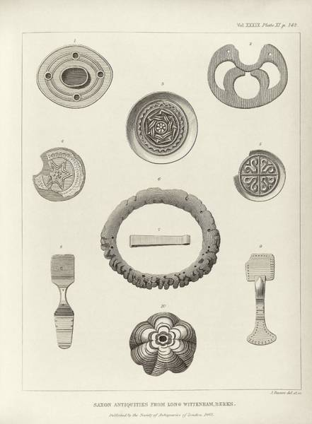 Xi Photograph - Anglo-saxon Artefacts by Middle Temple Library