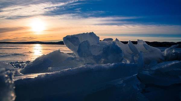 Photograph - Angostura Ice by Donald J Gray