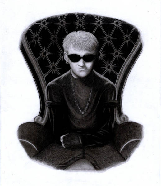 Layne Staley Wall Art - Drawing - Angry Chair by Kris Milo