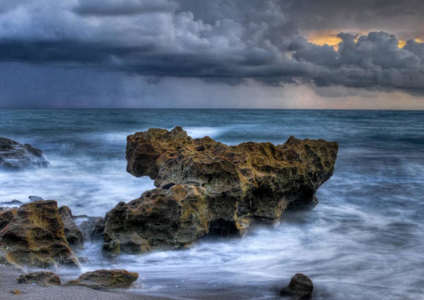 Beachscape Photograph - Angry by Debra and Dave Vanderlaan