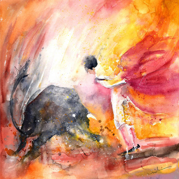 Painting - Angry Little Bull by Miki De Goodaboom
